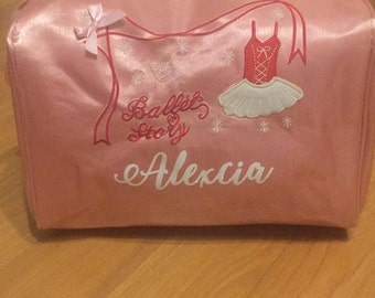 Girls ballet personalized bags
