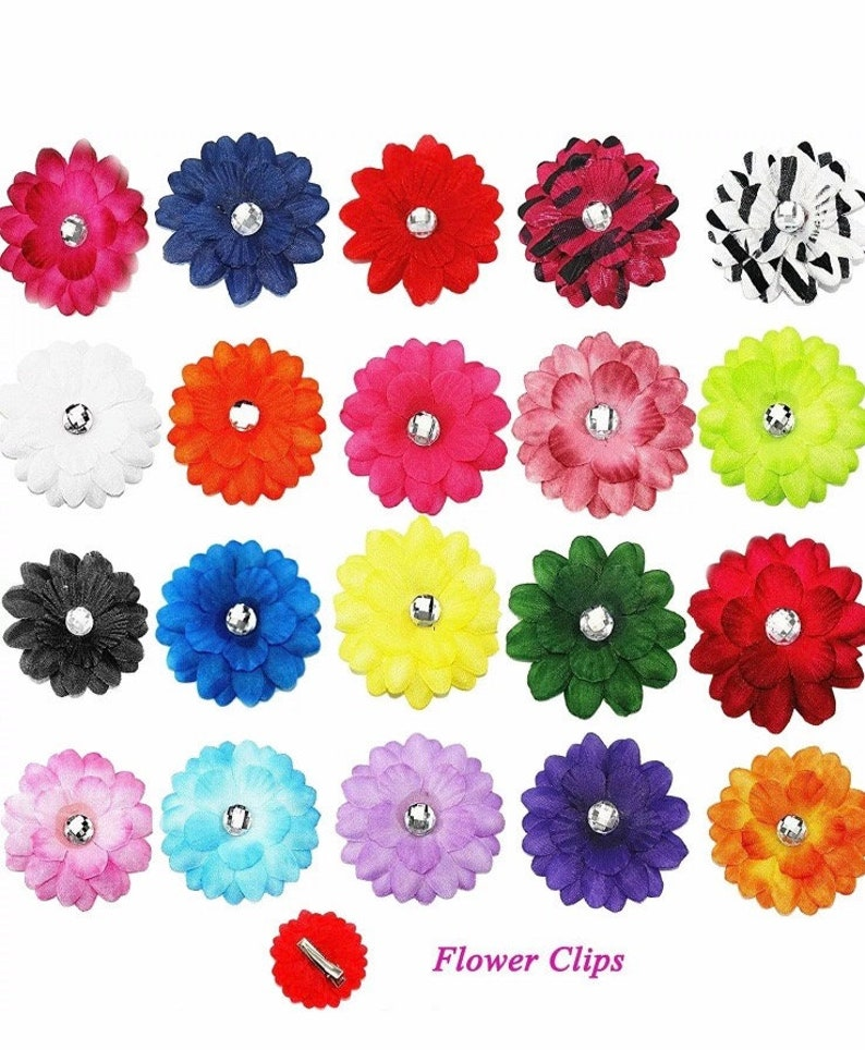 BABY GIRL //CHILD 2 INCH DAISY FLOWER CROCHET HEADBAND VARIOUS COLOURS