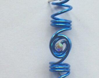 Loc/twist/braid jewel - electric blue