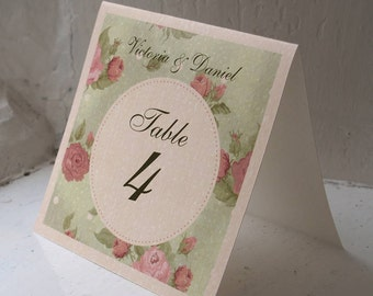 English Garden Wedding Personalised Place card