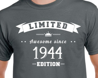 75th Birthday Shirt Gift 75 Years Old Year Turning Party Born 1944