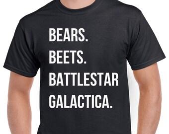 Bears Beets Battlestar Galactica Shirt - Funny Dwight Schrute Shirt From The Office