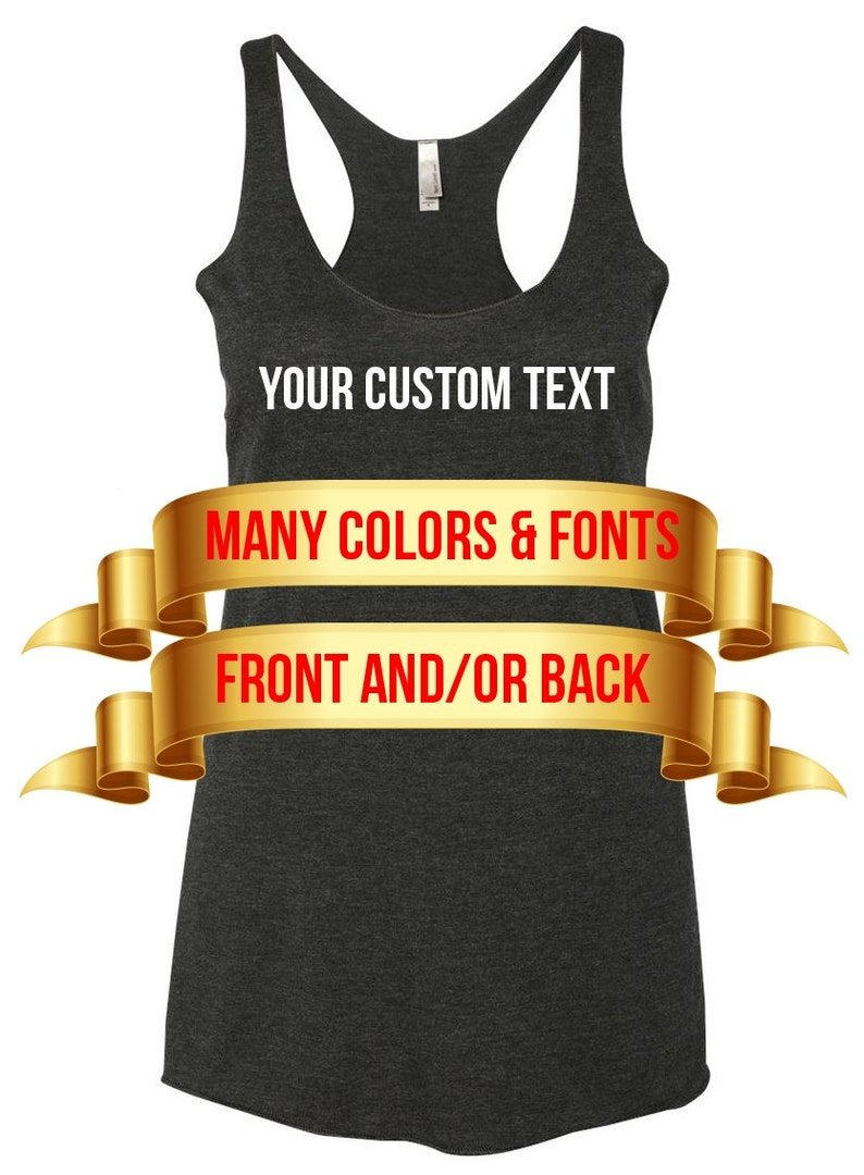 8f8d620cd482ee Personalized Tank Top Add your own text Custom Tank Top