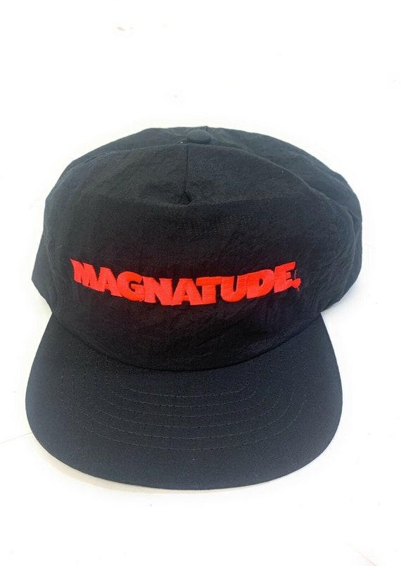 Magnatude Black Red Snapback Adult Cap Hat - image 3