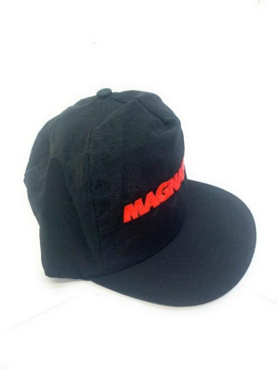 Magnatude Black Red Snapback Adult Cap Hat - image 2