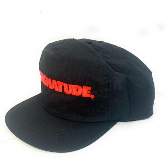 Magnatude Black Red Snapback Adult Cap Hat - image 1