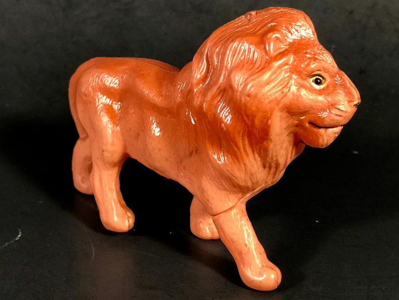 Celluloid Lion Animal Christmas Display Putz Animal Collectible Vintage 30s