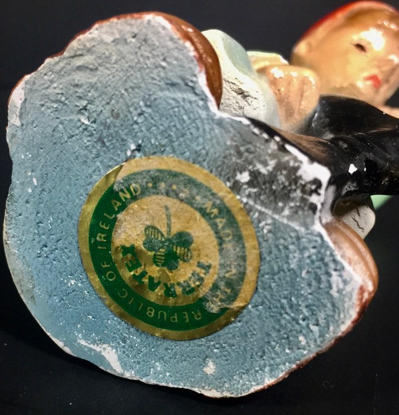 Patrick/'s Day Decor Vintage Reduced Leprechaun Pixie Cobbler Shoemaker Stamped Republic of Ireland Ceramic Glazed Figure  St
