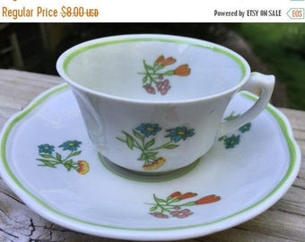SALE Europa Polish Porcelain Demitasse Cup Saucer Europa Floral New Mint
