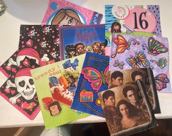 Paper Napkins - For young girls - for cutting, scrapbooking, collage, etc.