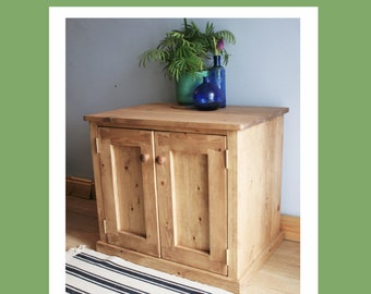 NOT free delivery * Wooden aquarium cabinet, large fish tank stand with doors & shelf, modern rustic, natural wood, custom made Somerset UK