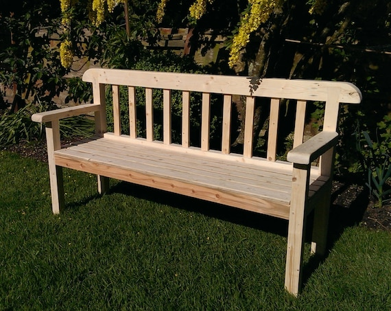 Astounding Garden Bench Seat 180 Cm Long In Natural Solid Wood Rustic Country Cottage Outdoor Garden Furniture Custom Handmade By Us In Somerset Uk Bralicious Painted Fabric Chair Ideas Braliciousco