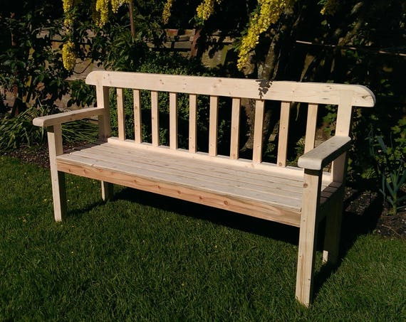 Outstanding Garden Bench Seat 180 Cm Long In Natural Solid Wood Rustic Country Cottage Outdoor Garden Furniture Custom Handmade By Us In Somerset Uk Gmtry Best Dining Table And Chair Ideas Images Gmtryco