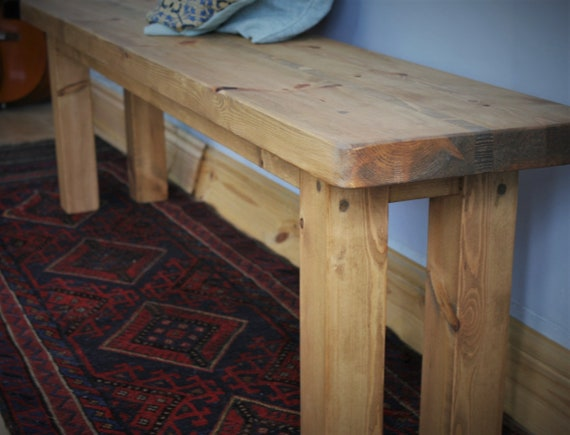 Enjoyable Wooden Bench Seat Kitchen Dining Bench 160 Cm Long Natural Wood Chunky Modern Rustic Farmhouse Style Custom Handmade In Somerset Uk Pabps2019 Chair Design Images Pabps2019Com