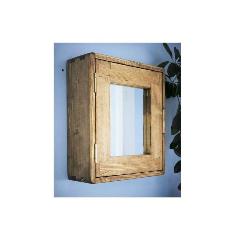 Bathroom wall cabinet medicine mirror cabinet in natural image 0