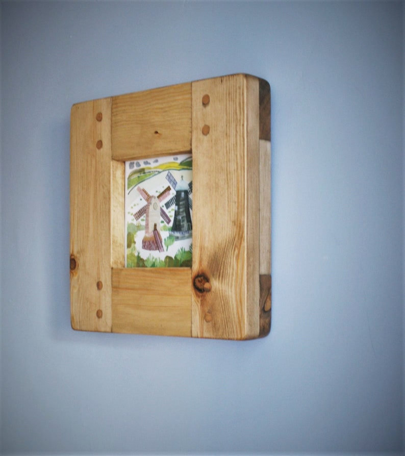 Square wooden picture & photo frame contemporary light wood image 0