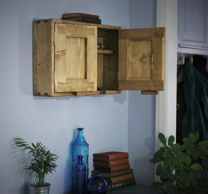 Wooden Wall Cabinet Cupboard For Hallway Utility Custom Etsy
