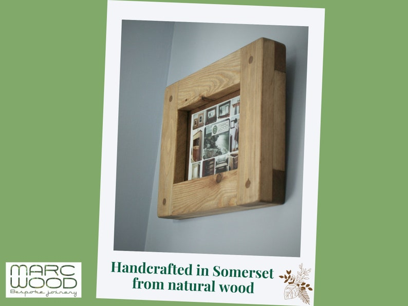 wood picture photo frame 5 X 7 crafted natural wood frame image 0