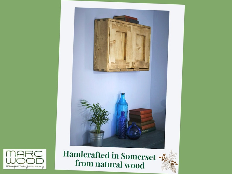 wooden wall cabinet & cupboard for hallway utility custom image 0