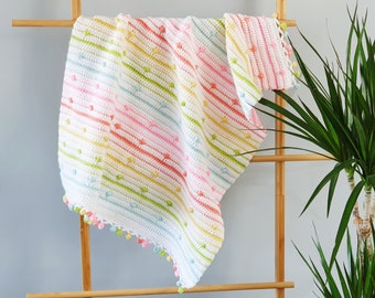 CROCHET PATTERN | A Spot of Spring Blanket | crochet blanket | crochet baby blanket | Instant Download | Crochet pattern | pdf download