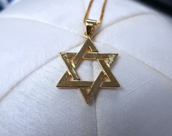 Traditional Gold Magen David Interwoven, Double Sided Jewish Star