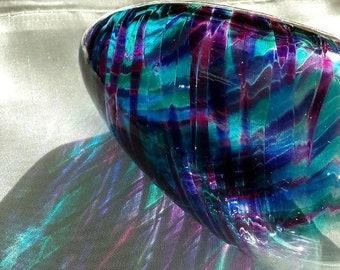 Jewish Wedding Glass to break, Chuppah glass In Purple & Blue