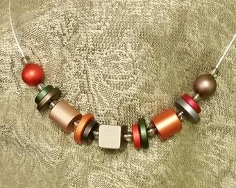 Anodized Aluminum Autumn Mix Necklace