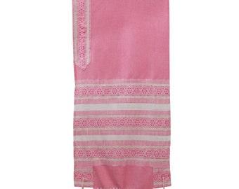 Hand Woven pink Wool and Silk Tallis
