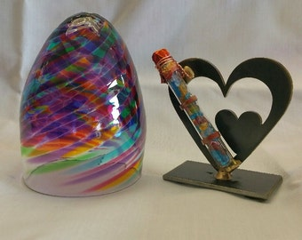 Wedding Glass Kit,Double Heart break the glass kit in any color glass i offer - color shown is Violet Multi