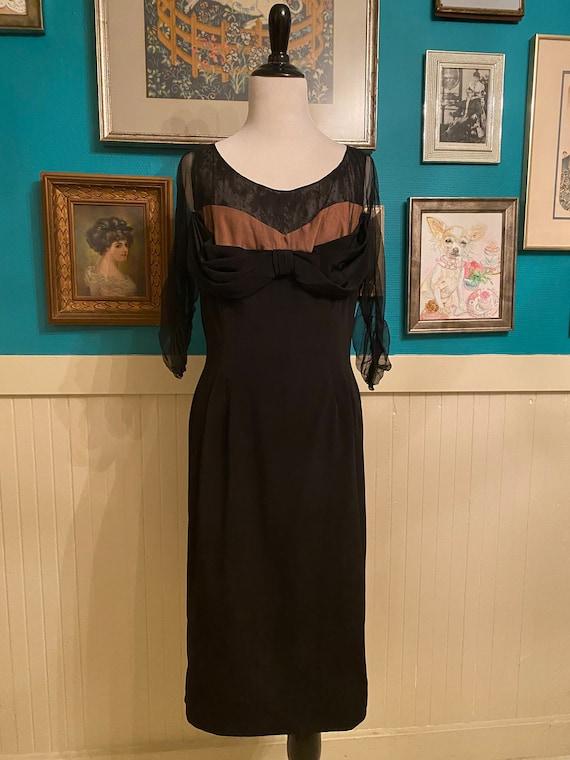 1940s / 1950s Peggy Hunt Wiggle Dress