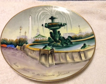 Vintage Painted Paris Plate by Girard