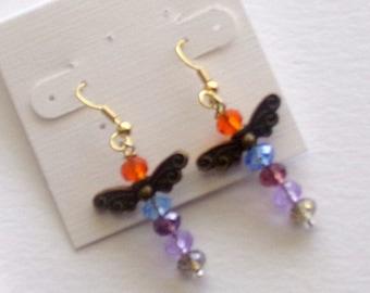 Swarovski Crystal Angel Wing Earrings W/ Sheppard Hooks
