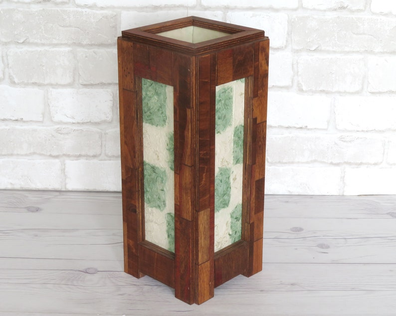 Wooden lamp. Accent lamp. Reclaimed wood. Lighting. Home image 0