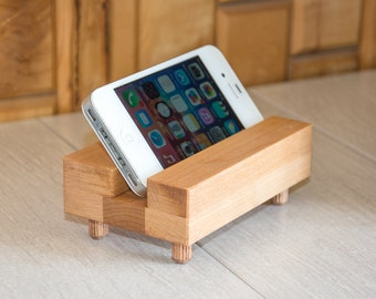 Wood iPhone dock. Wooden stand. For the home. Reclaimed wood. Modern. Recycled wood. iPhone accessories. Wood iphone stand.