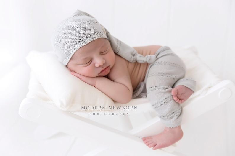 439e773688ccf NOUVEAU-né pantalon chapeau prop photo bébé nouveau-né gris