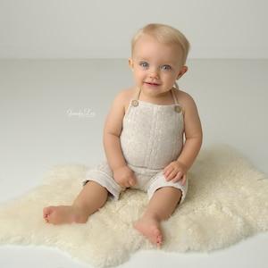 6M NEWBORN lace bib baby photography lace trim peach toddler photo prop lt 12M SITTER SET baby stretch romper handmade photo prop