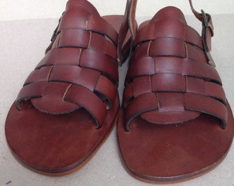 943b4efff8ce40 ALKYONE  Woven Leather Sling Back Mules Handmade leather sandal custom size  available