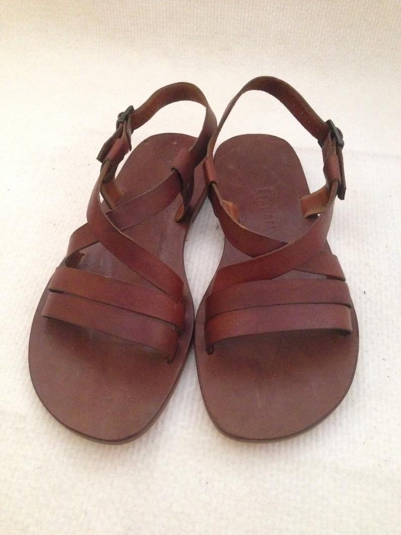 d1801dd31f948c ZELOS  2 Bar Cross Strap Leather Sandal Handmade leather