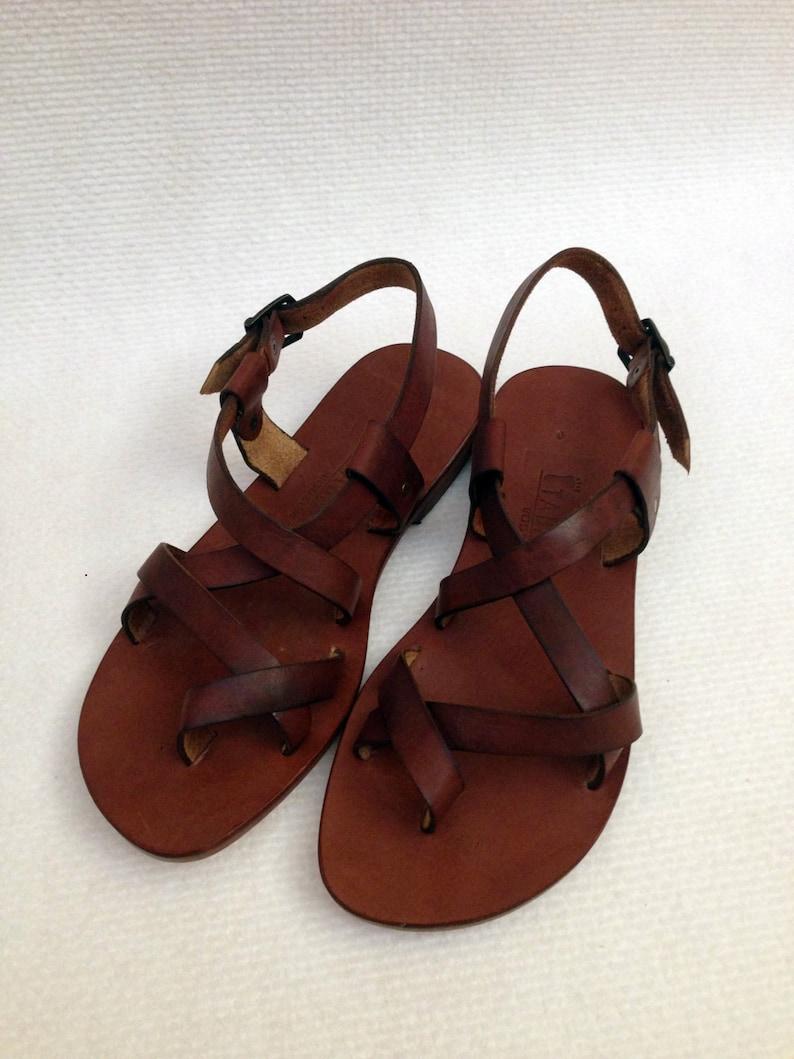 31e199c499586a BRAS  Cross Strap Buckle Adjustable Sandal Handmade leather
