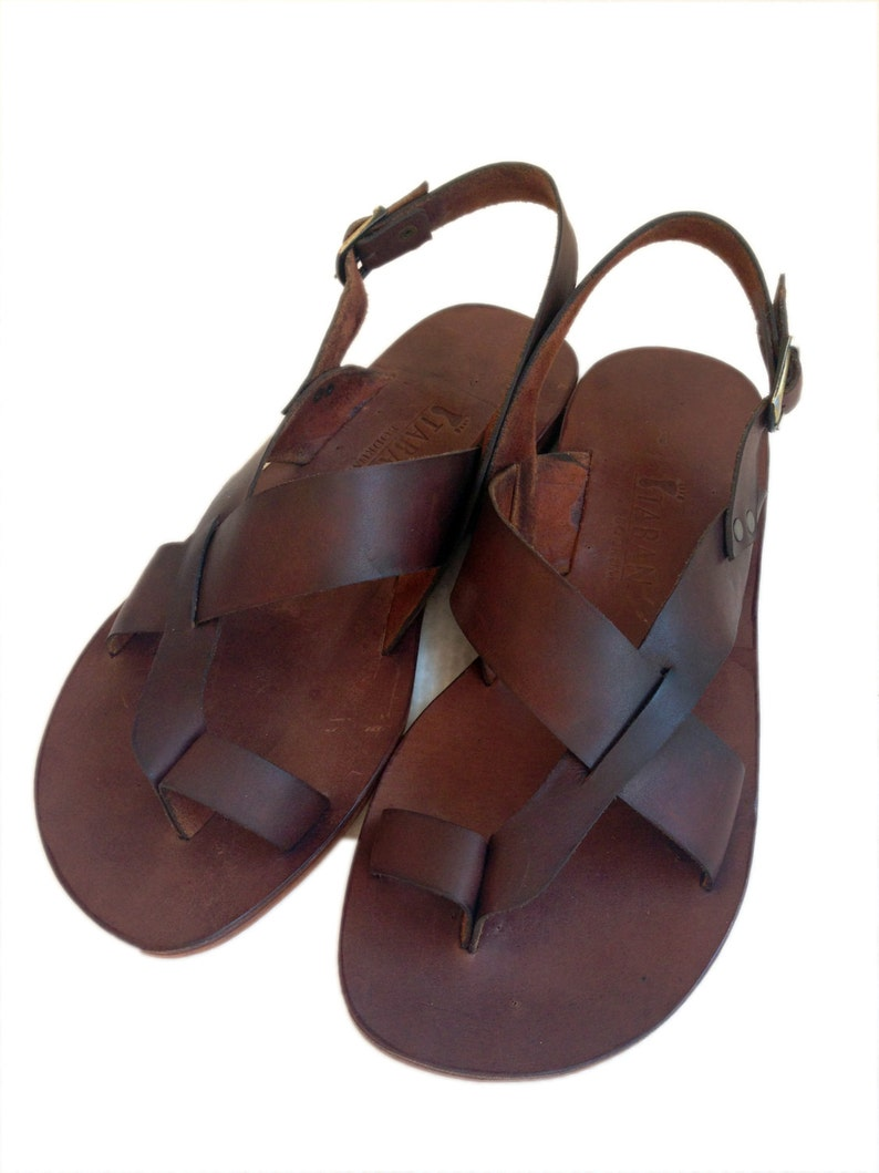 0de724c2003f03 AIAS  Toe Thong Sling Back Leather Sandal Handmade leather