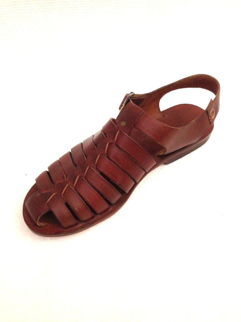 680e43551506 DOROS  All Leather Gladiator Flat Sandal Handmade leather