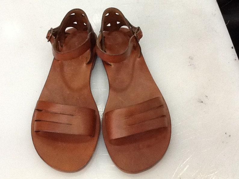 3384410364a49b DAPHNE   Cross Strap Buckle Adjustable Sandal Handmade leather