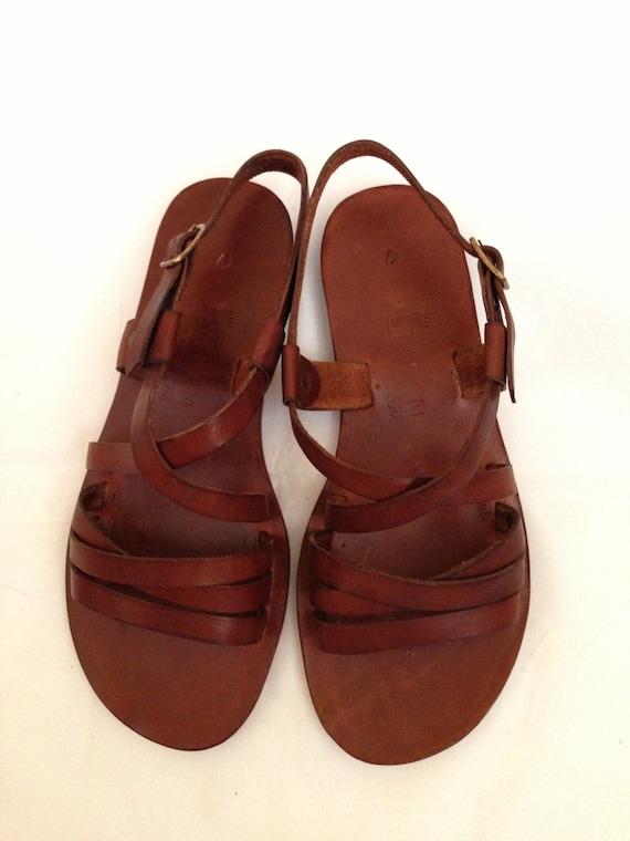 37c6e4f74019 DESPOINA  Multi Strap Sling Back Sandal Handmade leather sandal custom size  available