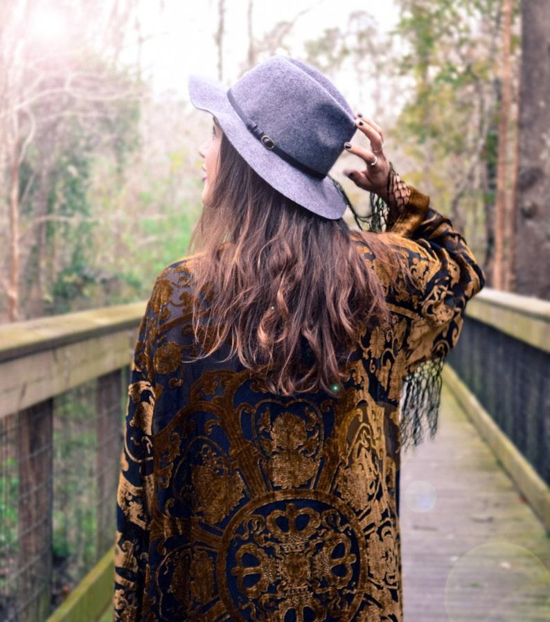 30% OFF Boho Kimono velvet Green Gypsy Women Boho Fringe ltiUXPeG