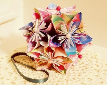 Origami flower ball etsy origami kusudama flower ball mightylinksfo