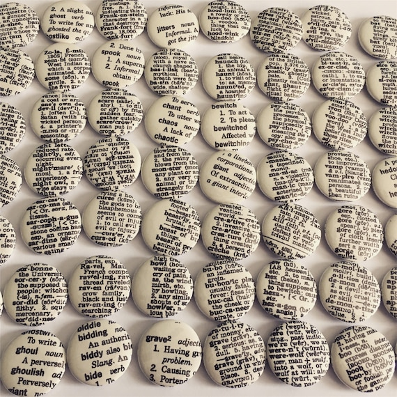 Random Scary Words Sets Of 5 Or 10 Magnets Or Buttons Etsy