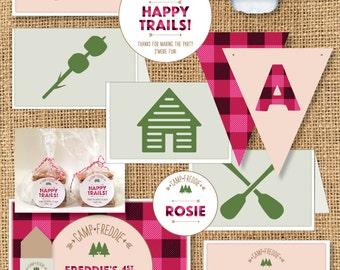 Girls Camp Themed Birthday - Printable
