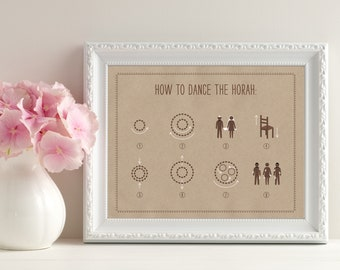 How to Dance the Hora  Wedding Sign - Jewish Wedding Details