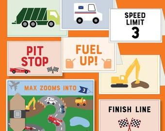 Cars & Trucks-Themed Birthday - Printable (Transportation / Things That Go)