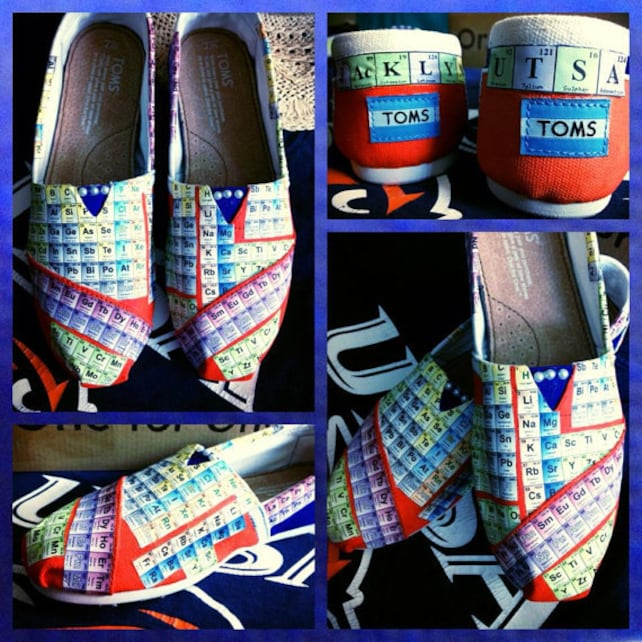 Womens Custom Made Periodic Tableutsa Toms Designed And Etsy